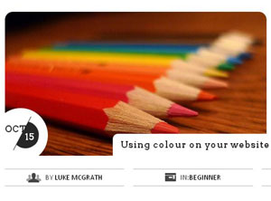 "Page graphic from Luke McGrath ""Using colour on your website"" article."